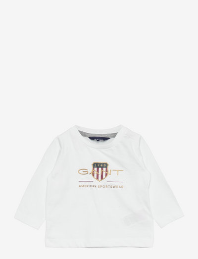 ARCHIVE SHIELD LS T-SHIRT - long-sleeved - white