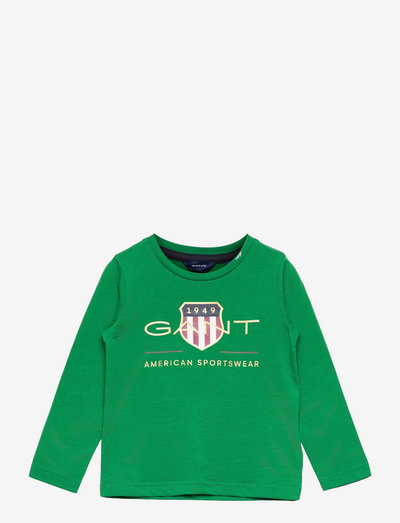 ARCHIVE SHIELD LS T-SHIRT - long-sleeved - lavish green