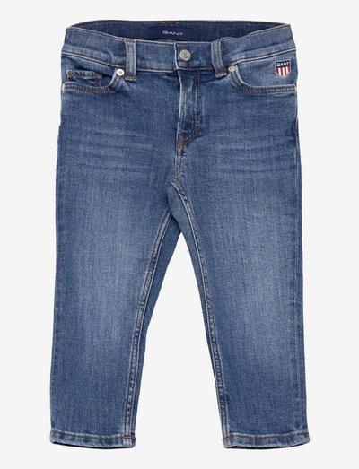 D1. GANT RETRO SHIELD JEANS - jeans - dark blue