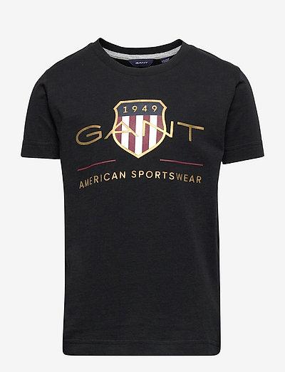 ARCHIVE SHIELD SS T-SHIRT - t-shirts - black