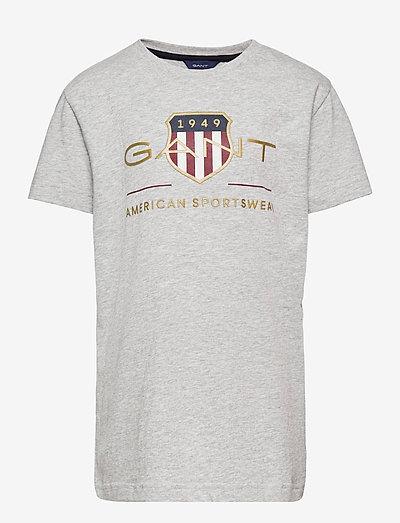 ARCHIVE SHIELD SS T-SHIRT - t-shirts - light grey melange