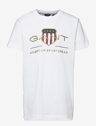 ARCHIVE SHIELD SS T-SHIRT - t-shirts - white