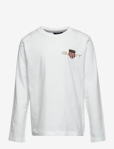 D1. MED ARCHIVE SHIELD LS T-SHIRT - t-shirts - white