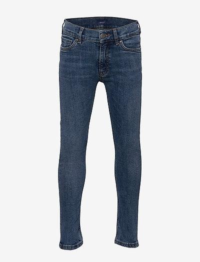 GANT SLIM JEANS - jeans - semi light blue broken in