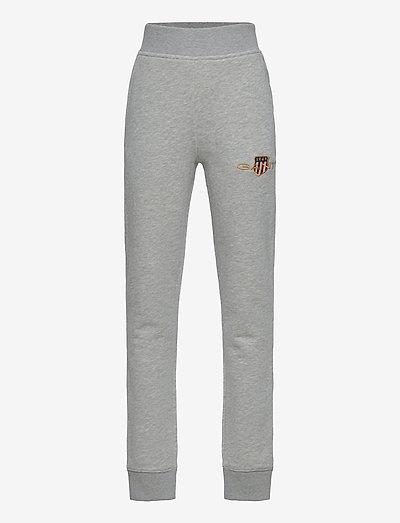 D1. ARCHIVE SHIELD  SWEAT PANTS - jogginghosen - light grey melange