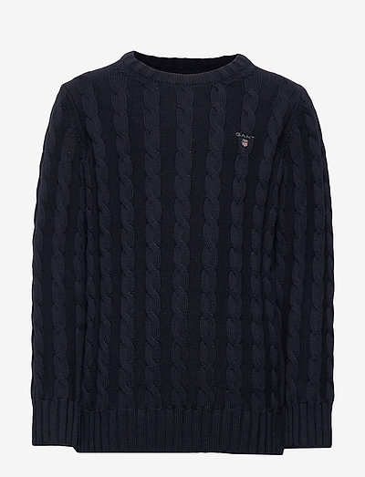 COTTON CABLE CREW - pullover - evening blue