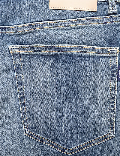 Gant D1. Slim Active-recover Jeans- Jeansy Mid Blue Vintage