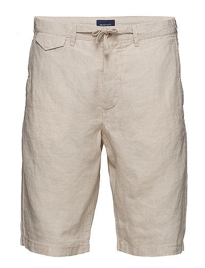O2. Relaxed Linen Shorts Shorts Casual Creme GANT