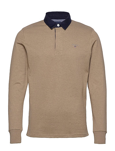 The Original Heavy Rugger Polos Long-sleeved Braun GANT | GANT SALE