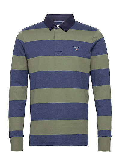 Original Barstripe Heavy Rugger Polos Long-sleeved Bunt/gemustert GANT | GANT SALE