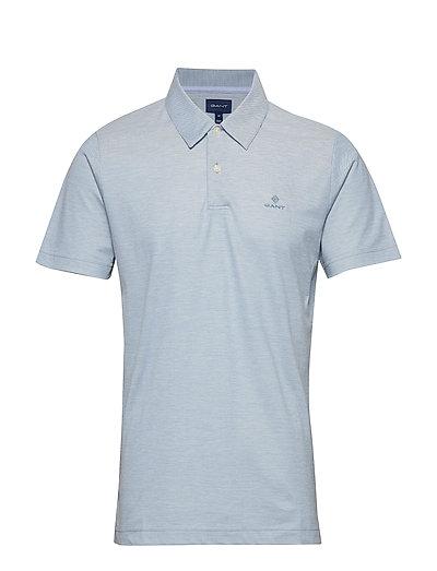 D1. Oxford Pique Ss Rugger Polos Short-sleeved Blau GANT