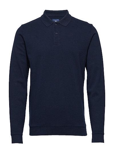 GANT O2. H Ycomb Collar Sweat Polos Long-sleeved Blau GANT