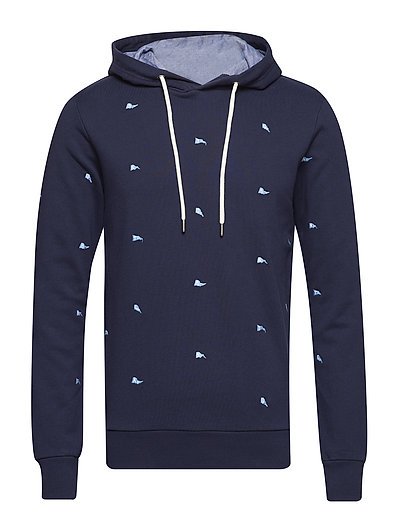 O1. ALL OVER PENNANT HOODIE - EVENING BLUE