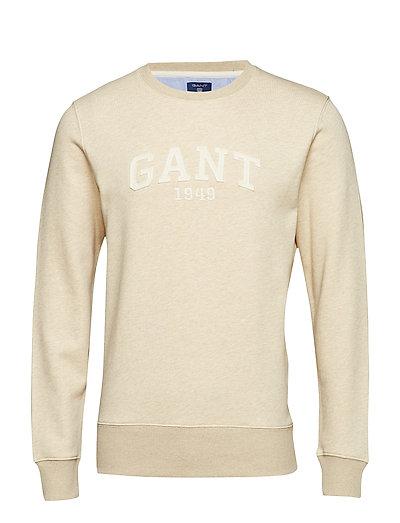 GANT O2. Gant C-Neck Sweat Sweat-shirt Pullover Creme GANT