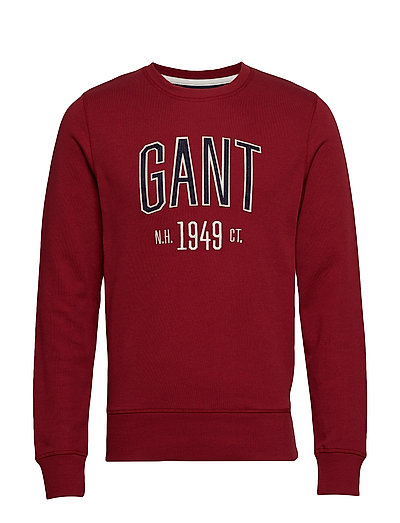 D1. Graphic C-Neck Sweat Sweat-shirt Pullover Rot GANT