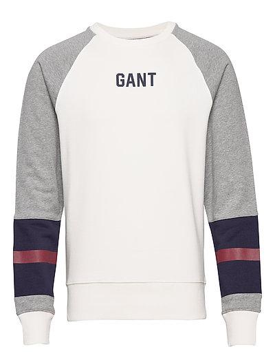 D1. Logo C-Neck Sweat Sweat-shirt Pullover Creme GANT