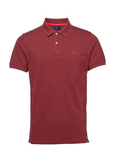 Contrast Collar Pique Ss Rugger Polos Short-sleeved Rot GANT