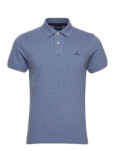 Contrast Collar Pique Ss Rugger Polos Short-sleeved Blau GANT