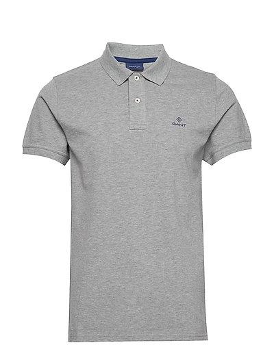 Contrast Collar Pique Ss Rugger Polos Short-sleeved Grau GANT