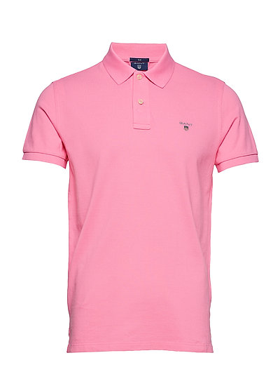 THE ORIGINAL FITTED PIQUE SS RUGGER - LIPSTICK PINK