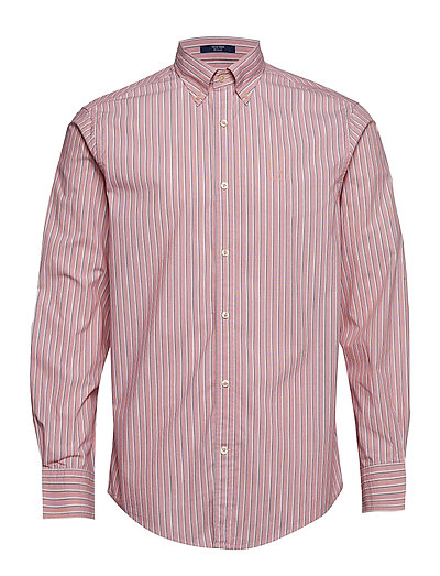 D1. Tp Broadcloth Stripe Reg Lbd Hemd Business Pink GANT