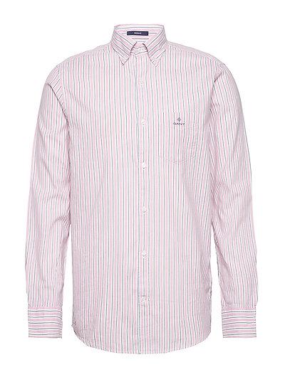 D1. Wb Oxford Stripe Reg Bd Hemd Business Pink GANT