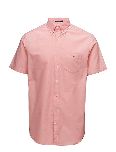 THE OXFORD SHIRT REG SS BD - STRONG CORAL