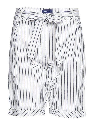 O2. Striped Linen Shorts Bermudashorts Shorts Weiß GANT