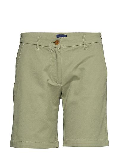 D1. Classic Chino Shorts Shorts Chino Shorts Grün GANT