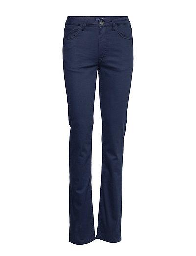 Tapered Satin Jean Straight Jeans Hose Mit Geradem Bein Blau GANT