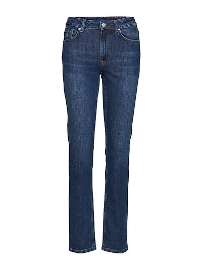 SLIM CLASSIC JEANS - MID BLUE WORN IN