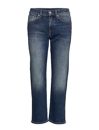 D1. Cropped Boyfriend Jeans Boyfriend-Jeans Blau GANT