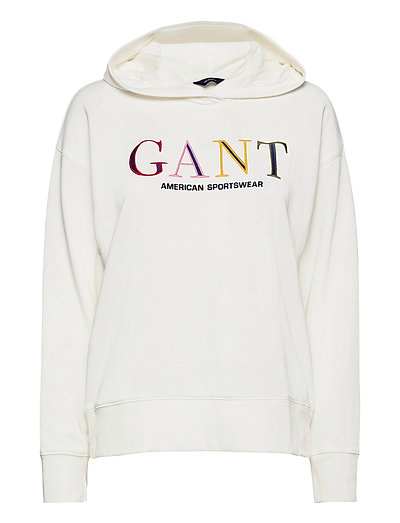 D1. Color Graphic Hoodie Sweat Hoodie Pullover Weiß GANT | GANT SALE