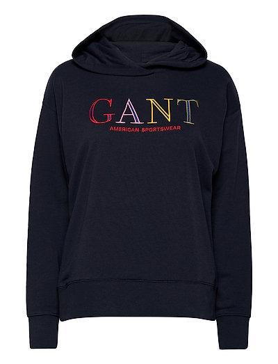 D1. Color Graphic Hoodie Sweat Hoodie Pullover Blau GANT | GANT SALE