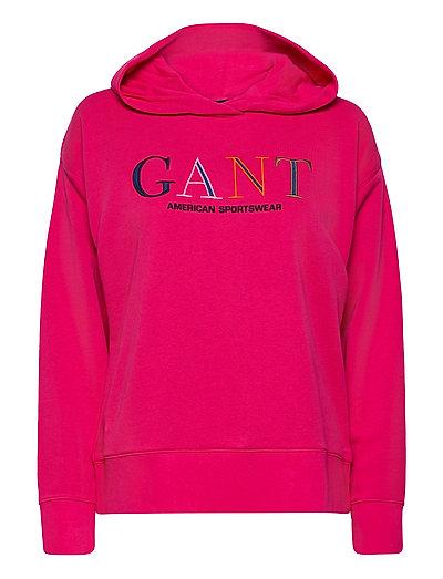 D1. Color Graphic Hoodie Sweat Hoodie Pullover Pink GANT | GANT SALE