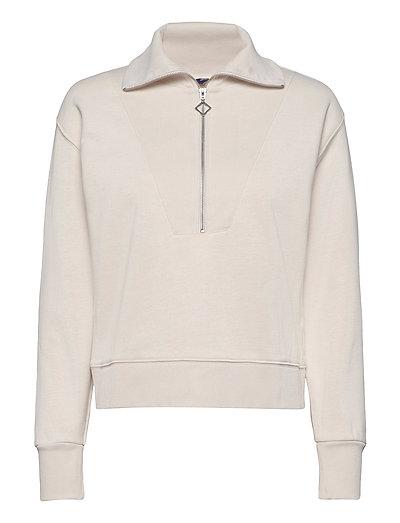 D1. Half Zip Sweat Sweat-shirt Pullover Weiß GANT | GANT SALE