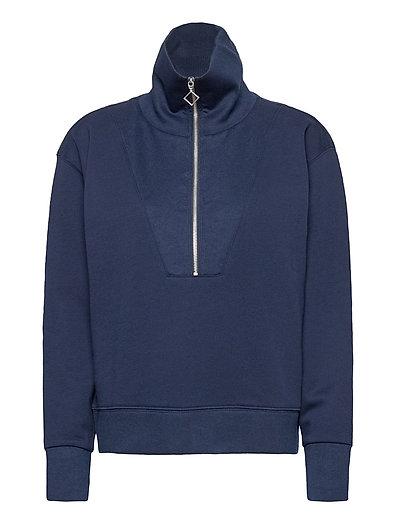 D1. Half Zip Sweat Sweat-shirt Pullover Blau GANT | GANT SALE