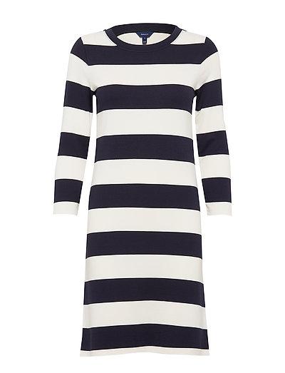 D2. Barstriped Jersey Dress Kleid Knielang Bunt/gemustert GANT