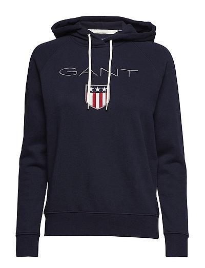 Gant Shield Sweat Hoodie Hoodie Pullover Blau GANT