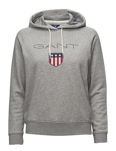 Gant Shield Sweat Hoodie Hoodie Pullover Grau GANT