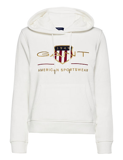 Archive Shield Sweat Hoodie Hoodie Pullover Weiß GANT | GANT SALE