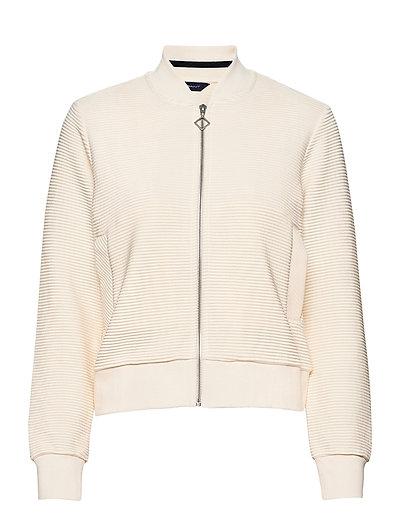 D1. Jersey Structure Jacket Sweat-shirt Pullover Creme GANT | GANT SALE