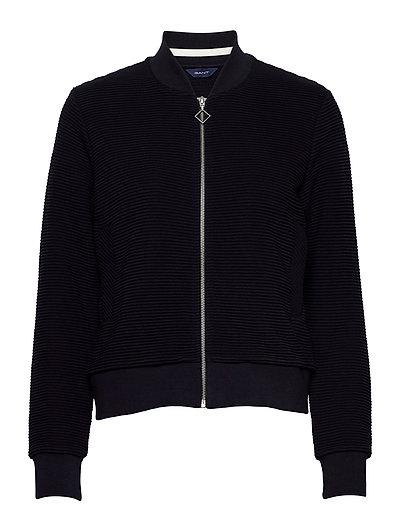 D1. Jersey Structure Jacket Sweat-shirt Pullover Blau GANT | GANT SALE