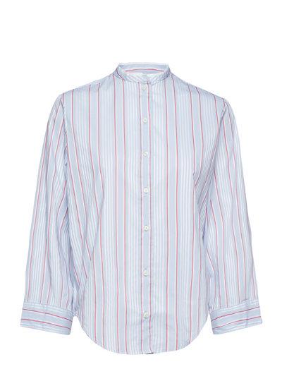 O2. Tp Bell Sleeve Shirt Langärmliges Hemd Blau GANT
