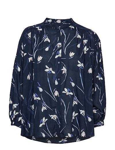 O2. Snowdrop Shirt Blouse Bluse Langärmlig Blau GANT