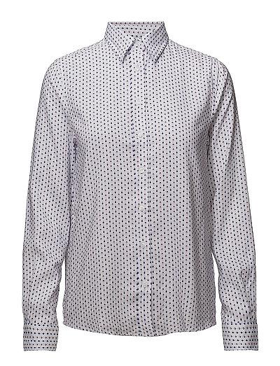 O1. Tp Oxford Printed Shirt Langärmliges Hemd Pink GANT