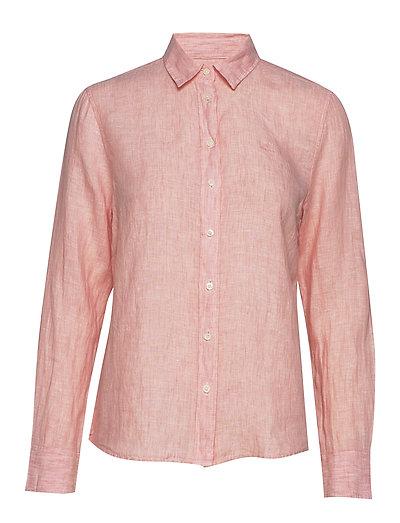 The Linen Chambray Shirt Langärmliges Hemd Pink GANT
