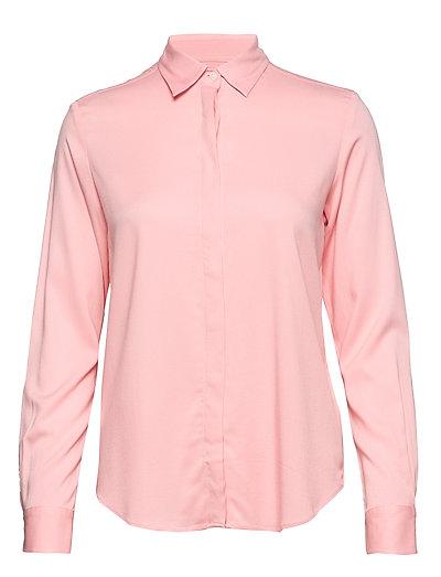 Featherweight Twill Blouse Bluse Langärmlig Pink GANT