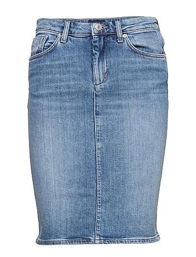 D1. Blue Denim Skirt Knielanges Kleid Blau GANT