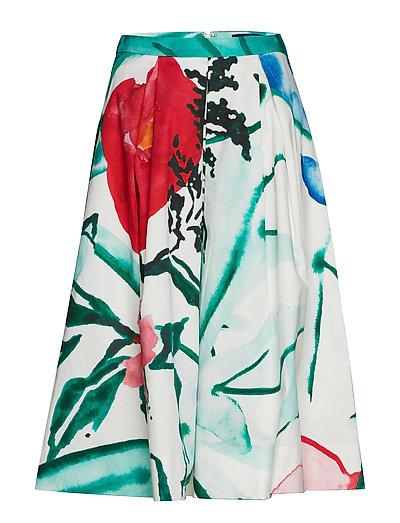 O2. Pleated Garden Party Skirt Knielanges Kleid Bunt/gemustert GANT